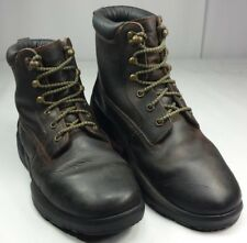 Dr. Comfort Men's Work Hiking Therapeutic Ankle Boots Brown Leather Wide Size 10