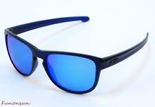 Oakley Men's Sunglasses Sliver OO9342-09 Blue Square Ice Iridium Mirror Lens