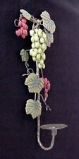 Vintage Home Interiors Metal Grapevine Wall Candle Sconce (1) Green Grapes