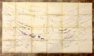 Vintage 1942 Dip Needle Survey, Firesteel Area, Ontonagon Co.,MI Geological Map