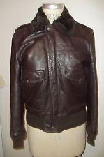 Vintage SCHOTT BROS. Zip-Front Genuine Leather Bomber Flight Pilot Jacket  36