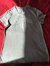 Tommy Hilfiger Ladies Grey Cotton Blend Short Sleeve T Shirt, size Large (14-16)