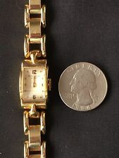 VINTAGE PATEK PHILIPPE LADIES WATCH 18K YELLOW GOLD CASE, 14K BRACELET, ART DECO