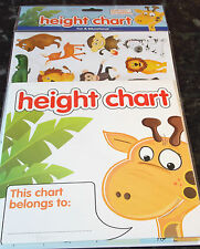 Children's Height Chart With 40 Stickers Chart up to 5 Feet Tall. 71 Available.
