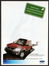 2004 FORD Escape Vintage Original Print AD - Red SUV car photo French Canada