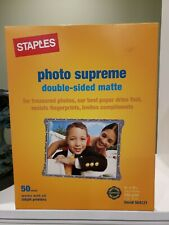 """STAPLES 8 1/2"""" X 11 PHOTO SUPREME DOUBLE SIDED MATTE PAPER, 50 SHEETS"""