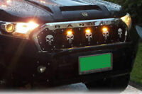 FRONT SKULL MATTE GRILLE FRONT 3 LED FOR RANGER PX2 MK2 15 16 17 18 NO FORD LOGO