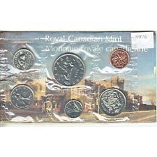 6 Coins UNC. 1976 Canada PL RCM Set