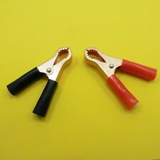 Copper Plated Red or Black Large Crocodile / Alligator Battery Test Lead Clips