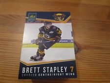 2017-18 VERNON VIPERS BRETT STAPLEY BCHL SINGLE PLAYER CARD MONTREAL CANADIENS