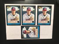 CLIFF LEE 2003 Bowman 4 ROOKIE CARDS Indians BASEBALL Philadelphia Phillies,NMMT