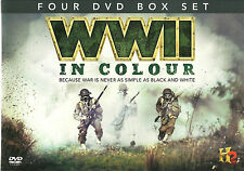 WWII IN COLOUR - 4 DVD BOX SET, FACE TO FACE, BATTLEGROUND  REGION 2 NEW