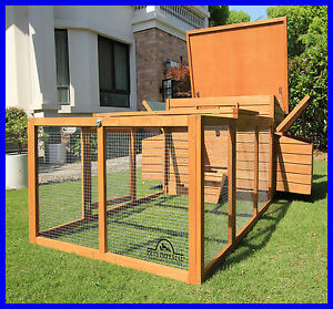 LARGE DELUXE CHICKEN COOP HEN POULTRY ARK HOUSE HUTCH NEST BALMORAL WITH RUN