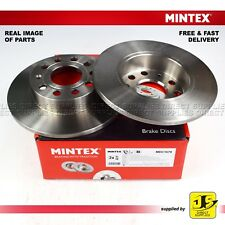 2X MINTEX DISC BRAKE REAR AUDI A3 SEAT SKODA VW CADDY III GOLF JETTA CITY TOURAN