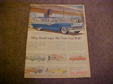 1956 Ford Country Sedan, Squire, Parklane, Ranch Station Wagon-LARGE color 56 ad