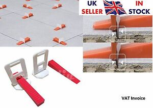 Tile Leveling System Wall Floor Spacers Clips Wedges Level Pack of 50