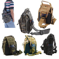 Day Pack Molle Utility Hiking Travel Out Sports Shoulder Sling Chest Pouch Bag