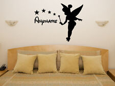 Custom Personalised Name Tinkerbell Childrens Bedroom Decal Wall Sticker Picture