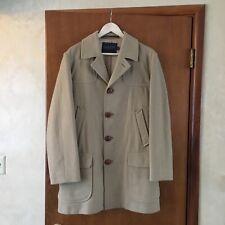 New Listingvintage pendleton wool overcoat jacket lined camel tan large 42