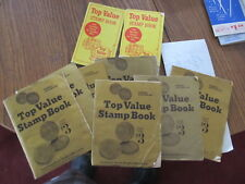 9 Top Value Stamp Books vintage coupon books