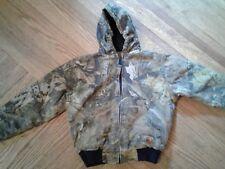 Berne youth M  warm, hooded, zip cammo coat
