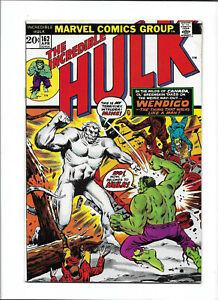 INCREDIBLE HULK #162 [1973 VG+] 1ST WENDIGO!