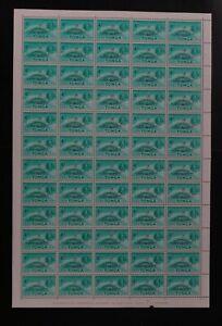 Tonga #120 1962 4c VF MNH full sheet (d010)