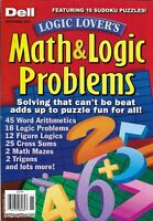 Dell Math And Logic Problems Magazine Sudoku Puzzles Figure Logics Mazes Trigons