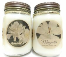 Combo Set Gardenia and Magnolia Set of Two 16oz Country Jar All Natural Soy Cand
