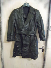 VINTAGE WW2 GERMAN OFFICERS HORSEHIDE LEATHER COAT JACKET SIZE 40""