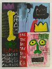 JEAN-MICHEL BASQUIAT COLLAGE AND MIXED MEDIA ON CANVAS 1981 AMERICAN PAINTER