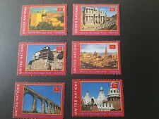 UNO New York 2000 Michelnummer 848/53 Postfrisch UNESCO Welterbe Spanien aus MH