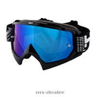 HP 7 HP7 MX Brille schwarz blau verspiegelt Motocross Enduro MTB BMX Crossbrille