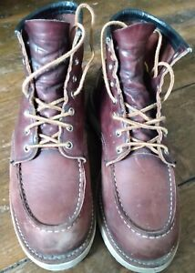 Red Wing 8138 Moc Toe UK Size 8