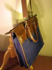 Lavievert Blue w/Leather trimmed Attache/Briefcase