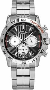 Rotary Exclusive Silver Chronograph Mens Watch GB00051/04