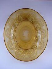 1937 GEORGE VI AMBER GLASS CORONATION DISH