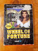 Wheel of Fortune (Sega Genesis, 1992) - CIB - Cleaned/Tested/Works!