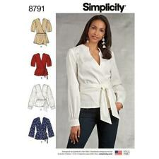 Simplicity Pattern 8791 EASY SEW WRAP over TIE BLOUSE  6-14