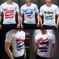 Marvel Superheros Uomo T-shirts manica corta Ciclismo Compressione Maglietta
