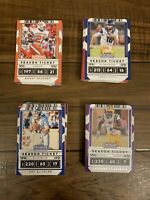 2020 Panini Contenders Draft Picks Football Card Lot Of Over 100 Base Cards