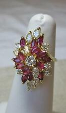 2 Ct Diamond Ruby Wedding Engagement Ring Appraised $7700 14K Gold Rubies