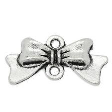 100 Connecteurs Breloque Noeud Papillon Création DIY 20x10mm K03459