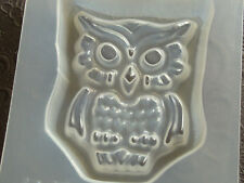 "Resin Mold Owl 3"" 74mm Fun Jewelry Chocolate Fondant Bird Epoxy Moulds"
