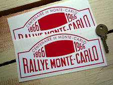 Rallye MONTE CARLO 6in CENTENARY style Rally Stickers
