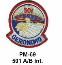 "3"" 501 A/B INF. Embroidered Military Patch"