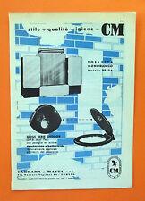 C587-Advertising Pubblicità-1959 - CARRARA & MATTA TOLETTA VETTA , SEDILE DEODOR