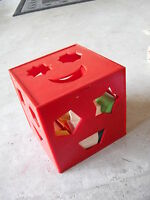 Vintage 1970s Plastic Child Guidance Play Square with Blocks