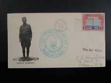 1929 US Air Mail Cover - Oyster Bay, New York - Quentin Roosevelt Cache
