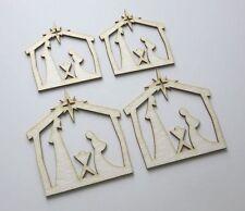 DIE CUT - CHIPBOARD - deco Noel CRECHE - 4 pieces - decoration, die cuts